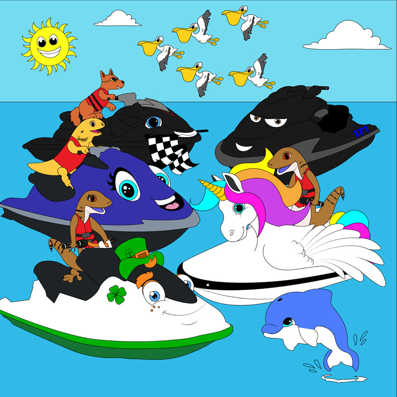 Unicorn Jet Ski – Colouring Competition